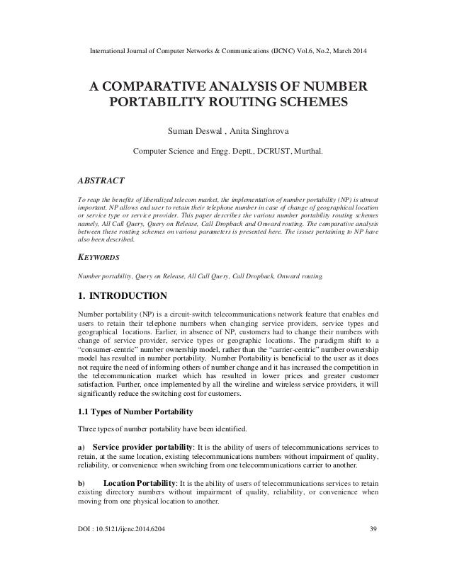 A comparative analysis of number portability routing schemes