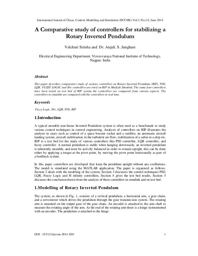 International Journal of Chaos, Control, Modelling and Simulation (IJCCMS) Vol.3, No.1/2, June 2014 DOI : 10.5121/ijccms.2...
