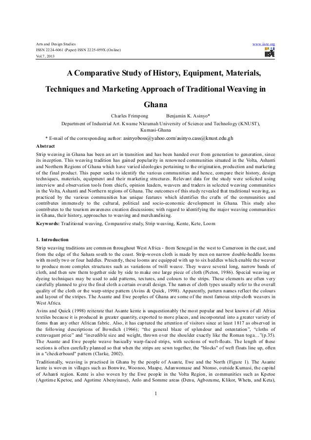 A comparative study of history, equipment, materials,