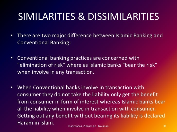 comapison islamic and conventional banking