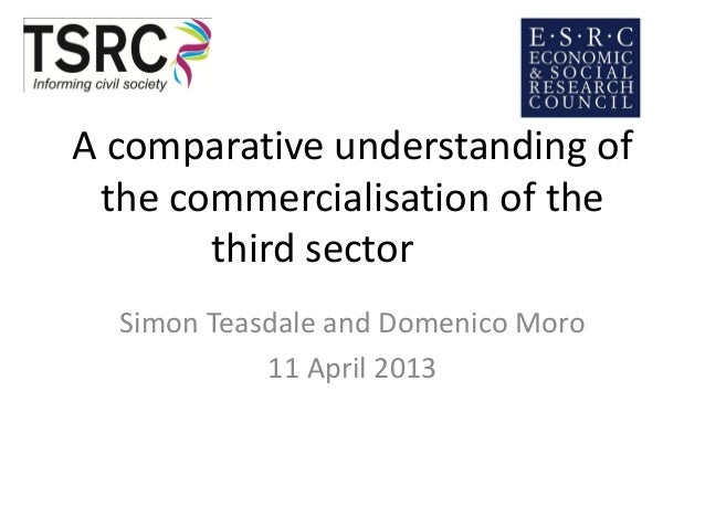 A comparative understanding ofthe commercialisation of thethird sectorSimon Teasdale and Domenico Moro11 April 2013