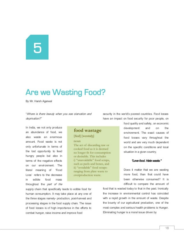 Essays On Food Waste