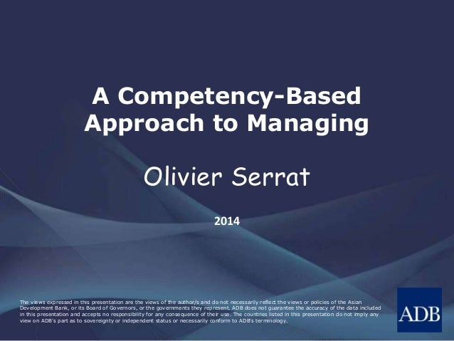 A Competency-Based Approach to Managing