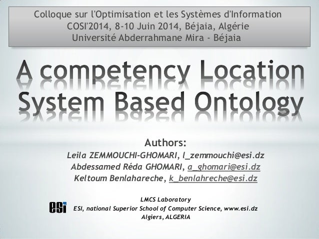 A competency location system based ontology presentation