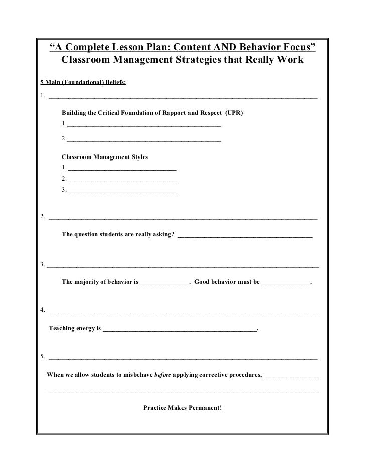 A complete lesson plan behavior and content focus for Close reading planning template