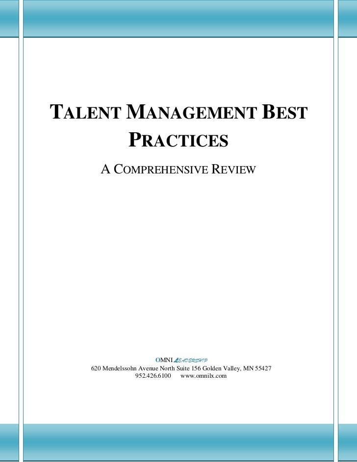 A Comprehensive Review of Talent Management           Best Practices  TALENT MANAGEMENT BEST         PRACTICES            ...