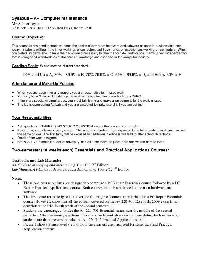 A computer maintenance_course_syllabus_2010