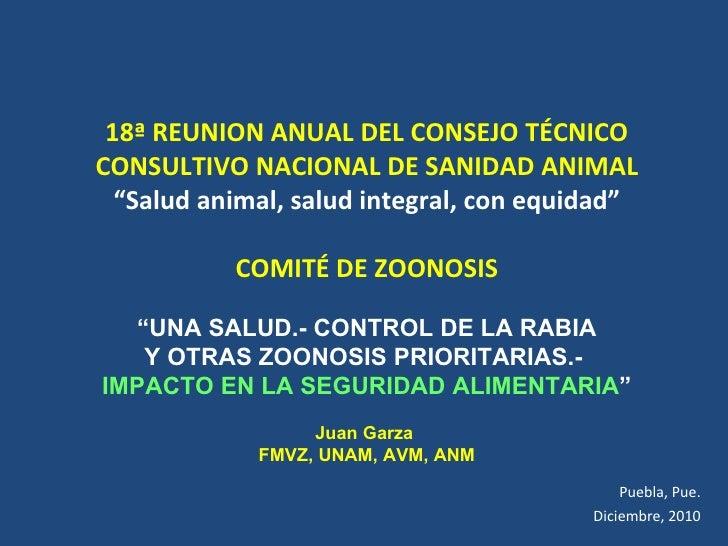 """18ª REUNION ANUAL DEL CONSEJO TÉCNICO CONSULTIVO NACIONAL DE SANIDAD ANIMAL """" Salud animal, salud integral, con equidad"""" C..."""