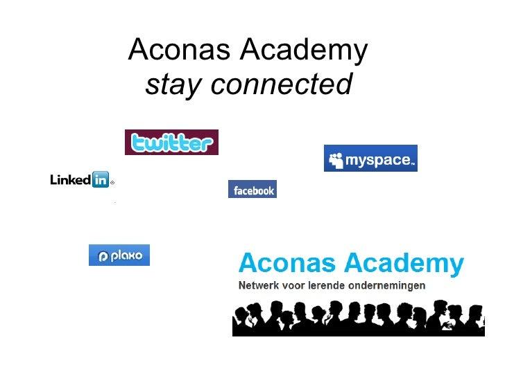 Aconas Academy   Stay Connected
