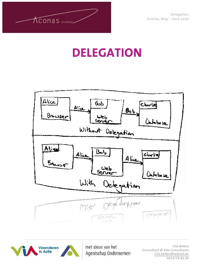 Delegation                Aconas, May – June 2010     DELEGATION        1|Page                                 Clio Bellon...