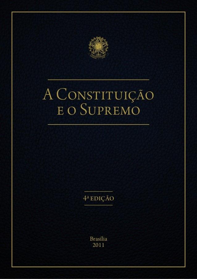 A constituicao e o supremo
