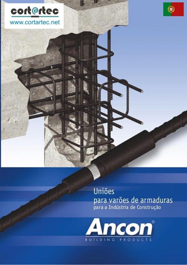 Uniões para varões de armaduras  para a Indústria de Construção