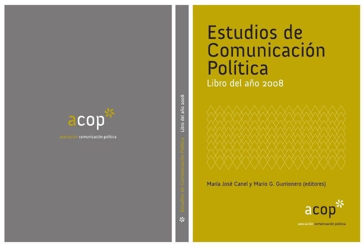Estudios de Comunicación Política. Libro del año 2008