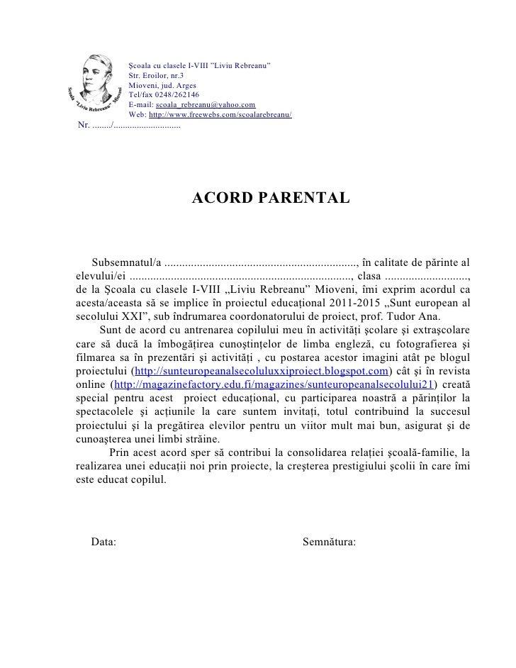 Acord parental
