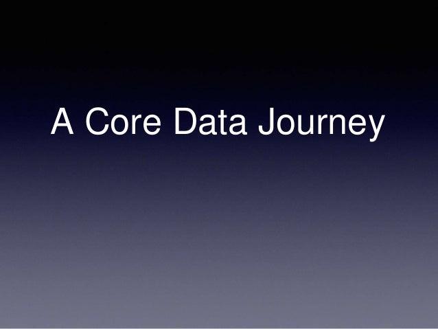 A CoreData Journey