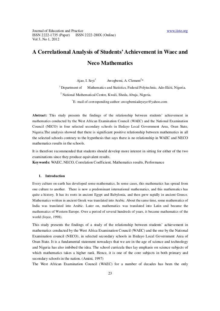 correlation analysis thesis