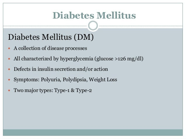 case study on diabetes mellitus Symptoms of diabetes the symptoms of diabetes eventuate because the scarcity of case study diabetes mellitus type 2 ppt insulin system glucose stays in the blood and isn't used as fuel for energy.