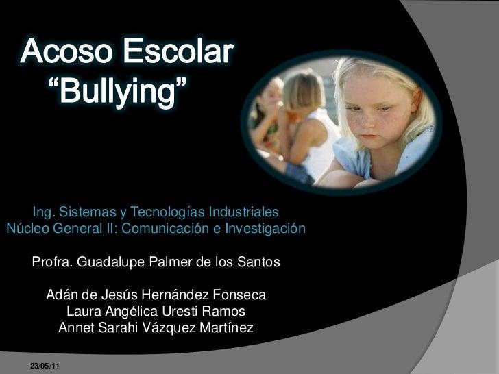 Acoso escolar bullying 1 - El bulin de horcajuelo ...