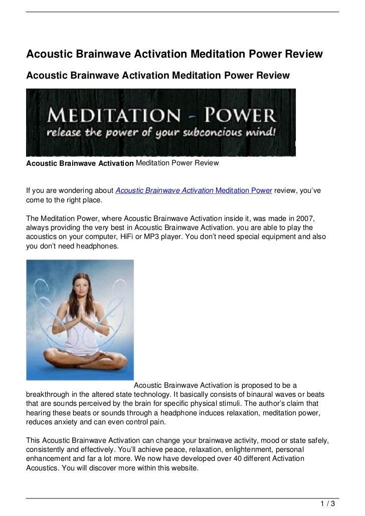 Acoustic Brainwave Activation Meditation Power ReviewAcoustic Brainwave Activation Meditation Power ReviewAcoustic Brainwa...