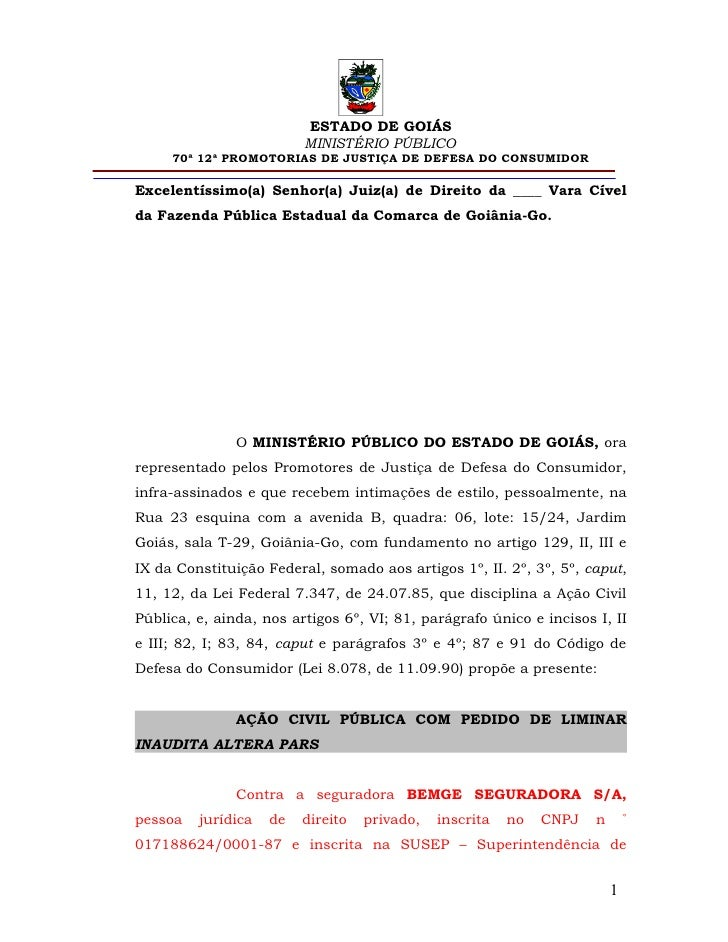 ESTADO DE GOIÁS                         MINISTÉRIO PÚBLICO     70ª 12ª PROMOTORIAS DE JUSTIÇA DE DEFESA DO CONSUMIDORExcel...