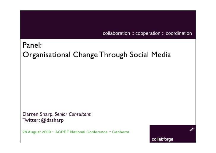 Organisational Change Through Social Media