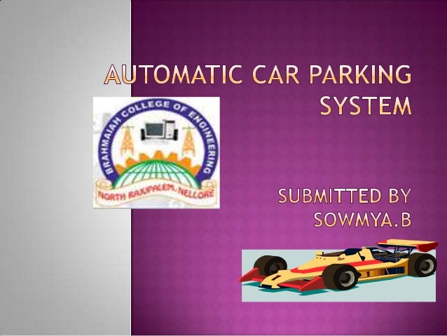 Rotary Car Parking System Ppt