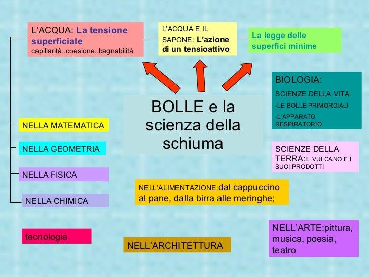 BOLLE e la scienza della schiuma L 'ACQUA E IL SAPONE:   L'azione di un tensioattivo BIOLOGIA: SCIENZE DELLA VITA -LE BOLL...