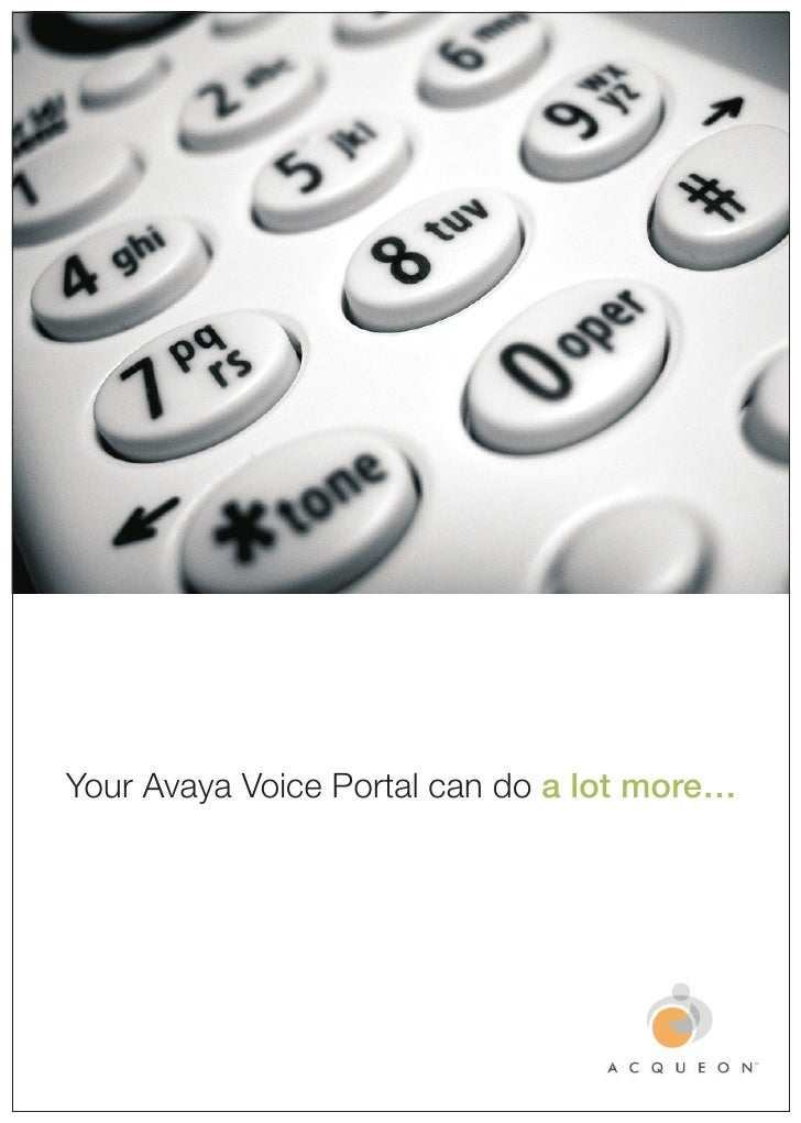 Your Avaya Voice Portal can do a lot more…