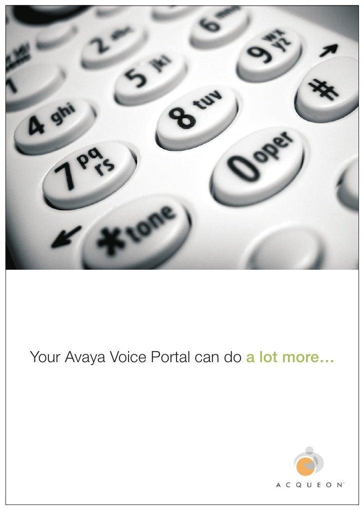 Acqueon's iAssist - for Avaya Voice Portal - Brochure