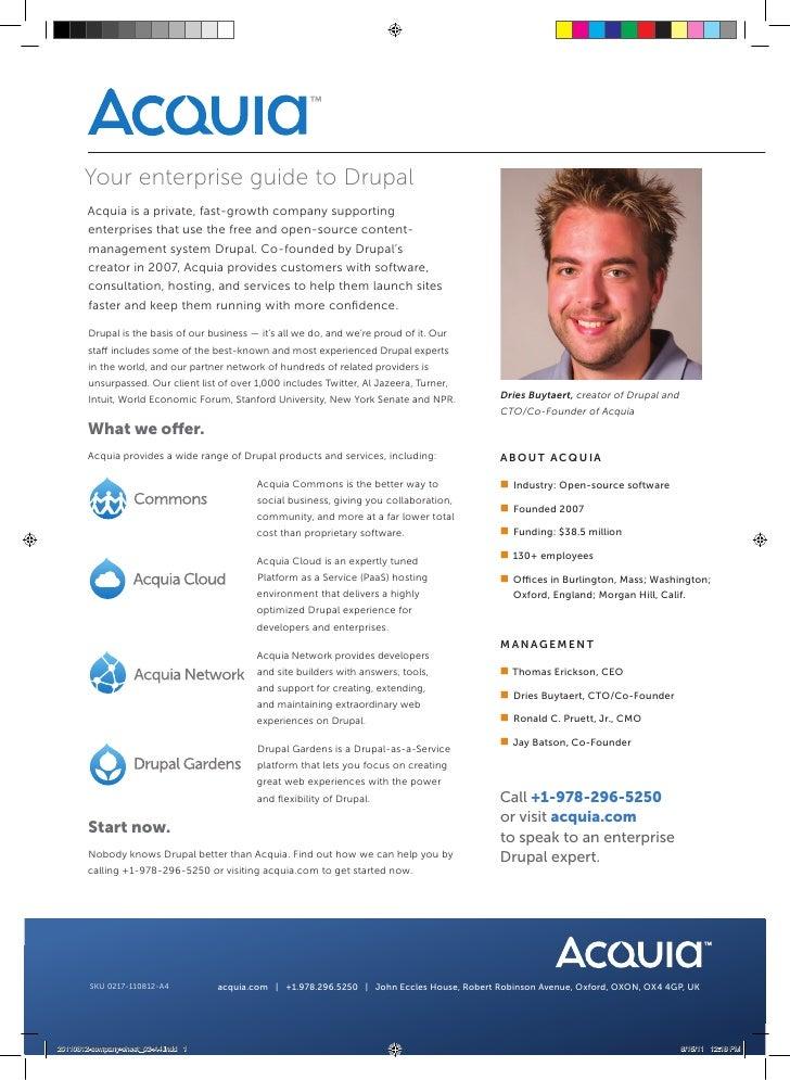 Acquia Company Information