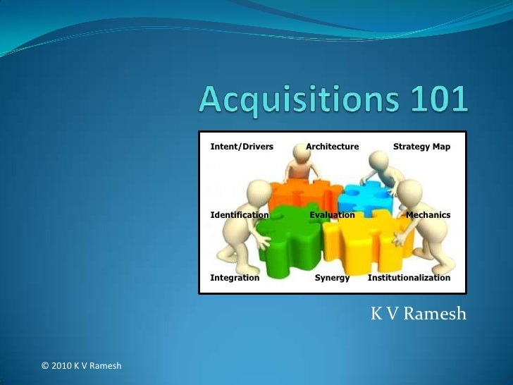 Acquisitions 101<br />Intent/Drivers<br />Architecture<br />Strategy Map<br />Identification<br />Evaluation<br />Mechanic...