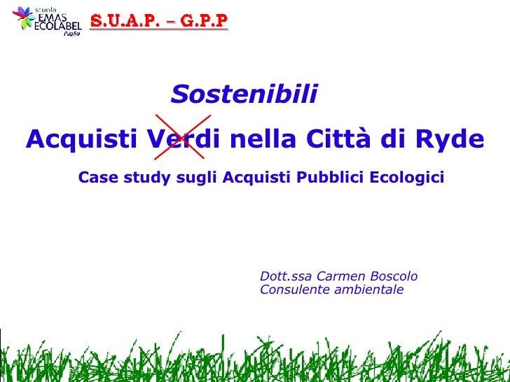 Acquisti Pubblici Ecologici