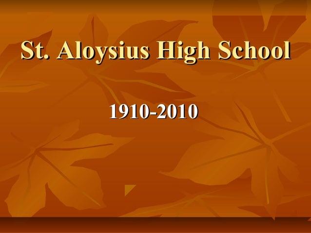 Aloysius Centenary Reunion