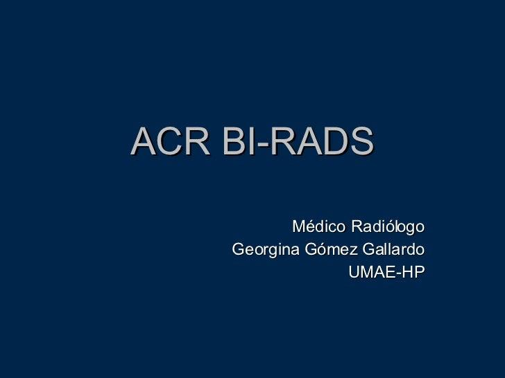 Acr Bi Rads