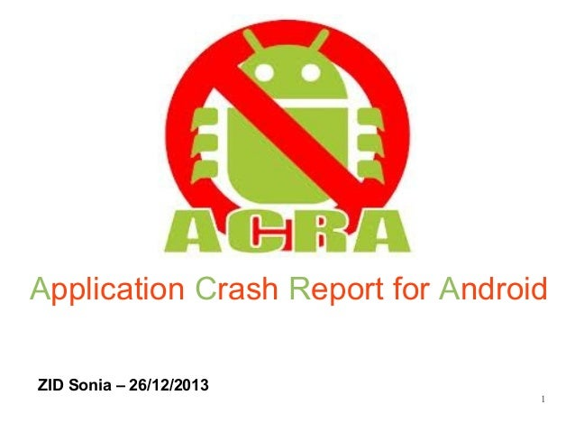 Application Crash Report for Android ZID Sonia – 26/12/2013  1