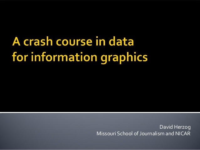 A crash course in data for information graphics