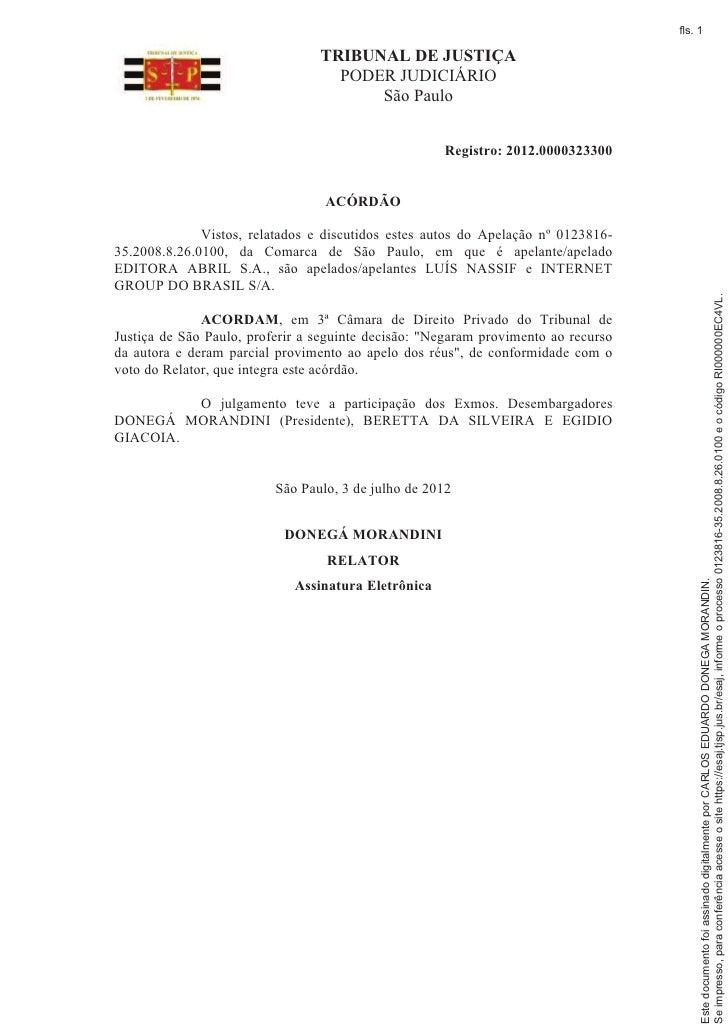 fls. 1                                 TRIBUNAL DE JUSTIÇA                                   PODER JUDICIÁRIO             ...