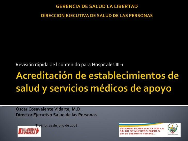Acreditacion en Salud