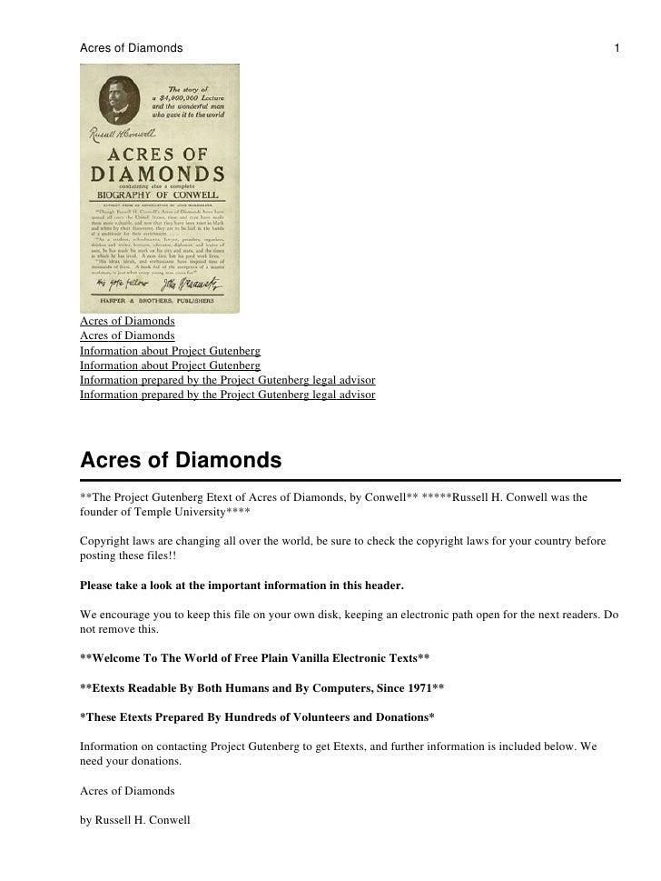 Acres of diamonds  conwell