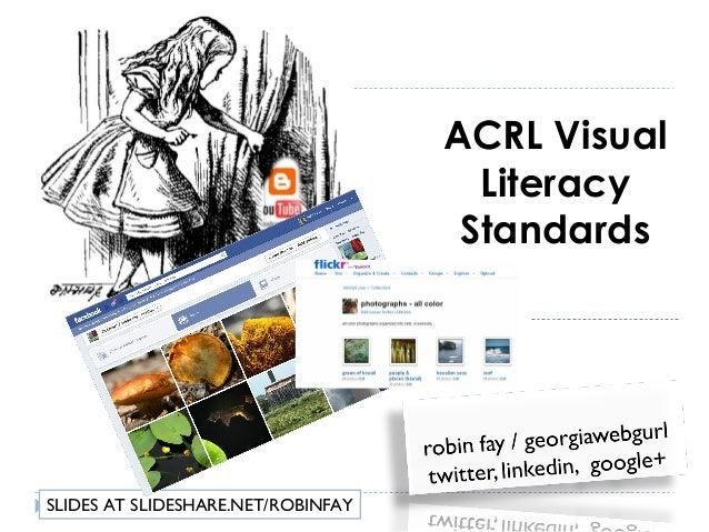 Visual literacy standards and metadata