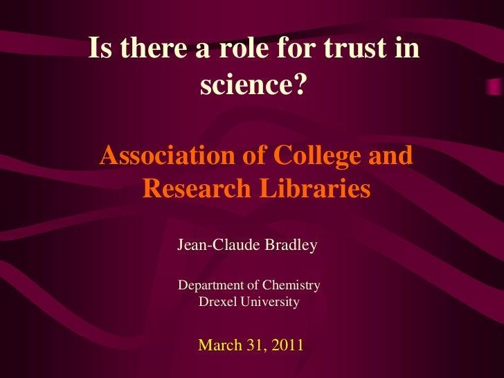 ACRL Trust in Science Talk