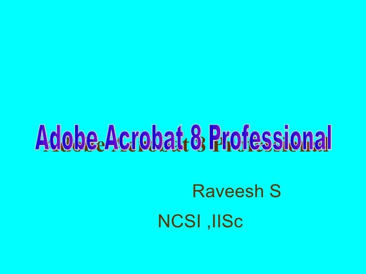 Acrobat 8 professional