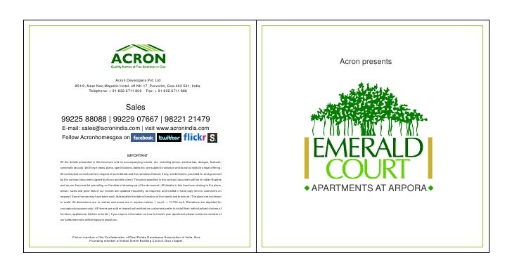 Acron presents                                  Acron Developers Pvt. Ltd            851/9, Near Neo Majestic Hotel, off N...