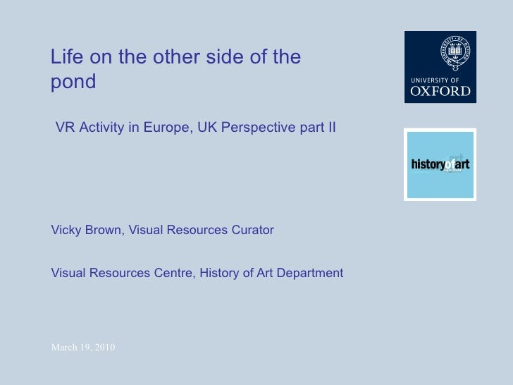 Life on the other side of the pond: VR Activity in Europe, UK perspective part 2
