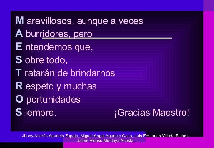 BUENOS MAESTROS, MAESTROS FASCINANTES - YouTube