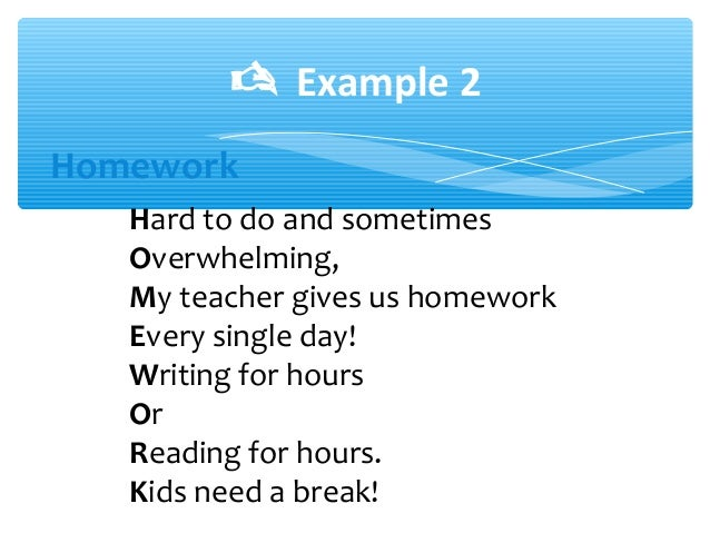 Acrostic Poem Examples Middle School acrostic poems ppt