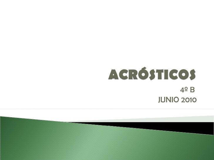 4º B  JUNIO 2010