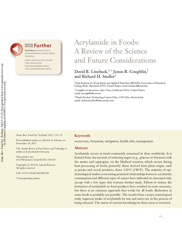 FO03CH02-Lineback  ARI  ANNUAL REVIEWS  10 February 2012  9:25  Further  Annu. Rev. Food Sci. Technol. 2012.3:15-35. Downl...