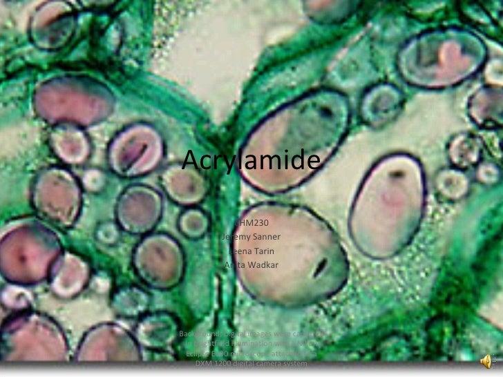Acrylamide Presentation
