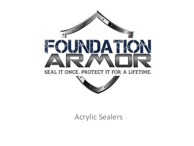 Acrylic Sealers